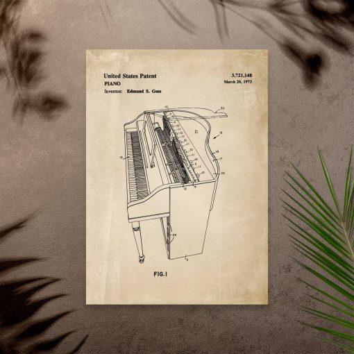 Plakat z pianinem