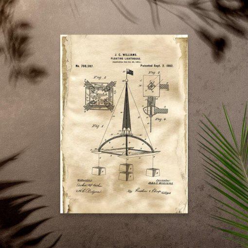 Plakat z prototypem bojki morskiej