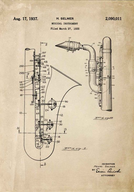 Plakat z saksofonem