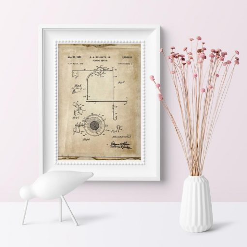 Plakat z urządzeniem dla wędkarza