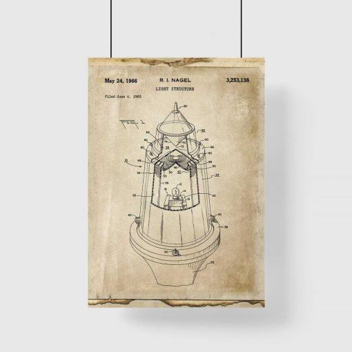 Plakat ze schematem budowy lampy