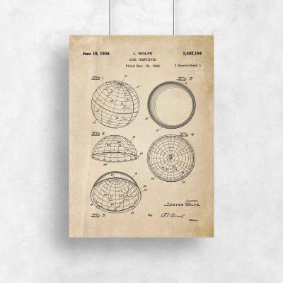 Plakaty z urządzeniami astronomicznymi