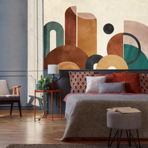 Tapeta z kolorową abstrakcją do sypialni