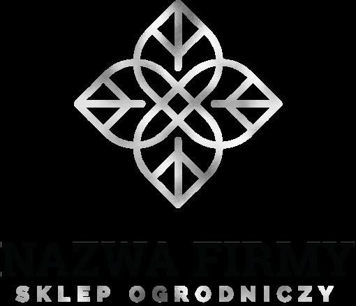 Dwukolorowy logotyp z listkami 3d - sklep ogrodniczy