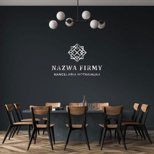 Kancelaria notarialna - abstrakcyjne kwadraty i logo 3d