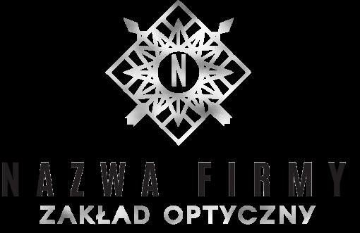 Logo 3d dla optyka z geometrycznym ornamentem