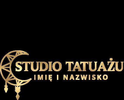 Logo 3d z księżycem dla tatuażysty