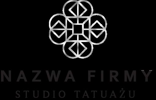 Logotyp 3d z geometrycznym zdobieniem dla studia tatuażu