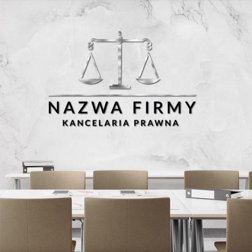 Ornamentyczna waga i logo 3d dla kancelarii prawnej