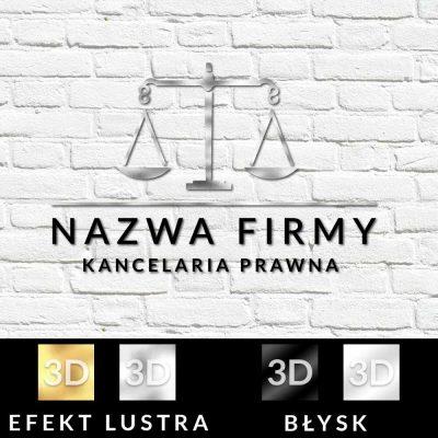 Przestrzenne logo dla kancelarii prawnej z wagą