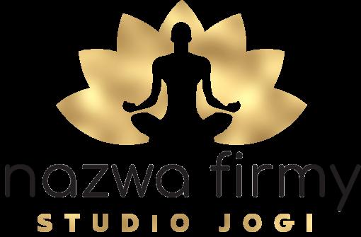 Przestrzenne logo dla studia jogi z męską postacią