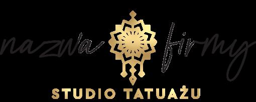Przestrzenne logo dla studia tatuażu ze zdobieniem