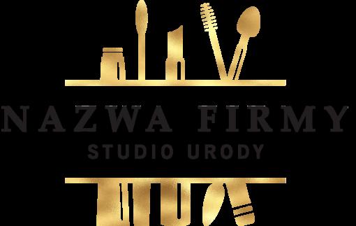 Przestrzenne logo dla studia urody z pędzlami
