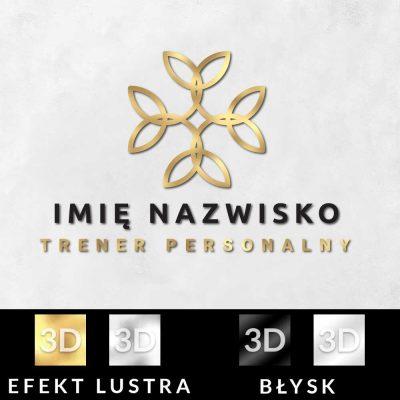 Przestrzenne logo z abstrakcją do studia treningu personalnego