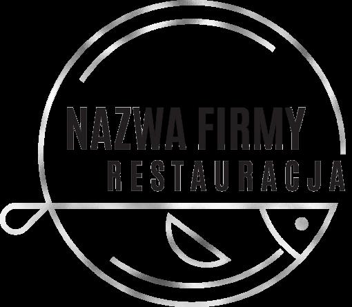 Przestrzenne logo z rybką dla restauracji