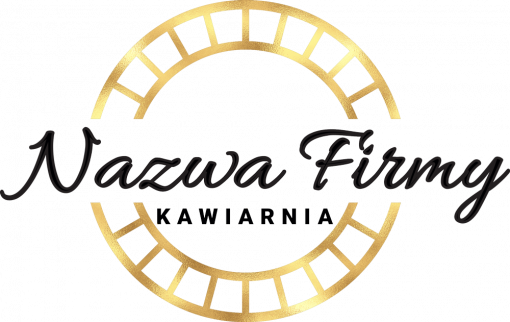 Rewelacyjne logo 3d z okrągłym detalem - kawiarnia