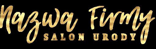 Salon urody - ozdobny logotyp 3d