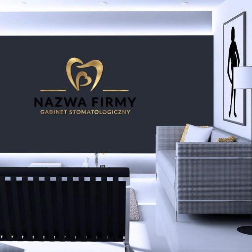 Serce i ząb - logotyp 3d dla stomatologa