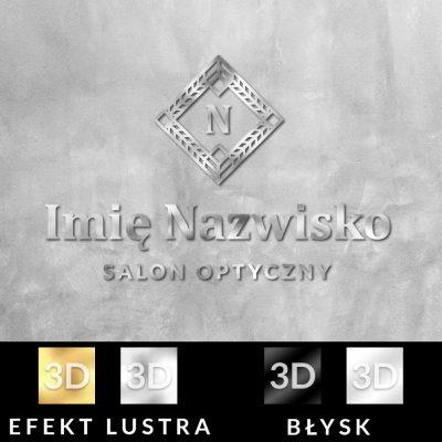 Spersonalizowane logo z literką i grafiką dla optyka