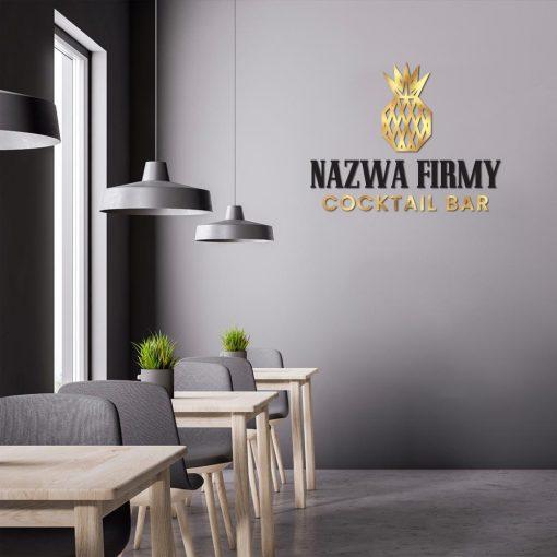 Spersonalizowany logotyp z ananasem - cocktail bar
