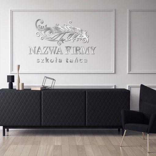 Studio tańca - logotyp przestrzenny z piórem