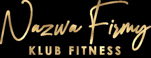 Trójwymiarowe logo dla klubu fitness z piękną czcionką