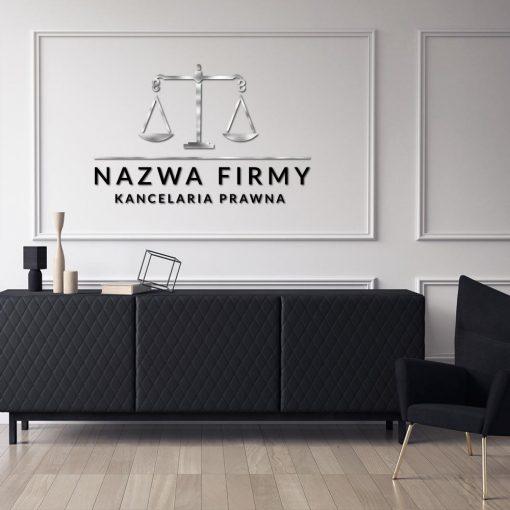 Trójwymiarowe logo i waga dla kancelarii prawnej