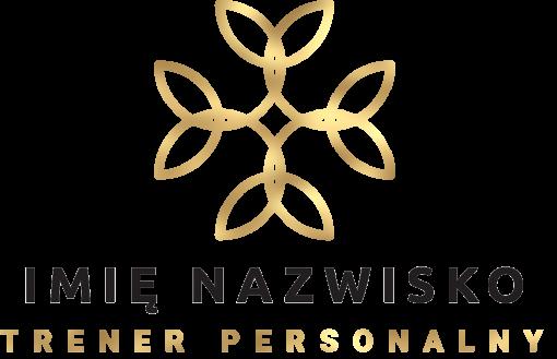 Trójwymiarowe logo z abstrakcją do studia treningu personalnego