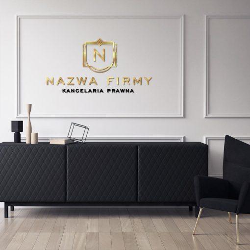 Trójwymiarowe logo z literką dla kancelarii prawnej