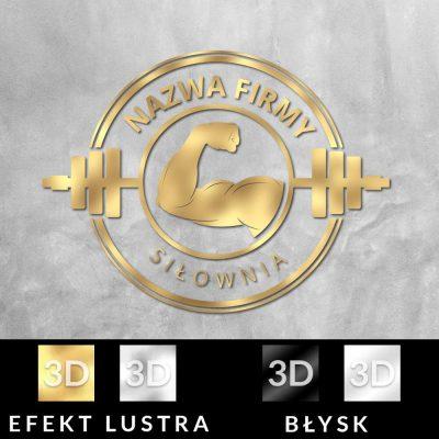 Trójwymiarowe logo z tricepsem do siłowni