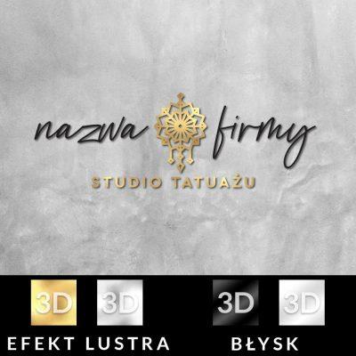 Trójwymiarowy logotyp dla studia tatuażu