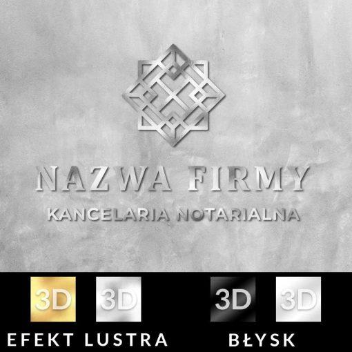 Trójwymiarowy logotyp z kwadratami dla notariusza