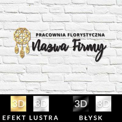Znak firmowy 3d dla pracowni florystycznej