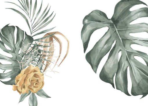 Dwa plakaty botaniczne do dekoracji poczekalni