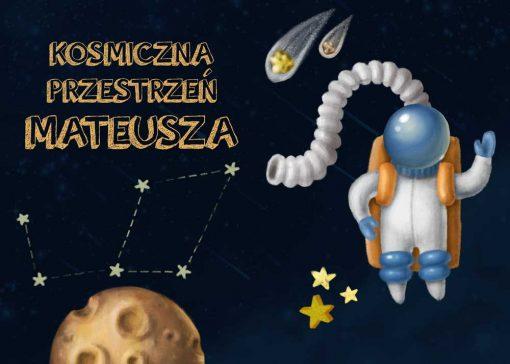 Dwa plakaty z kosmonautą i dowolnym imieniem