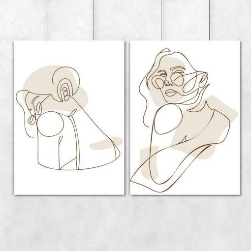 Dwa plakaty z okularniczką