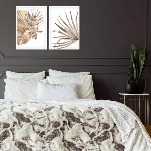 Dyptyk plakatowy z motywem liści palmowych