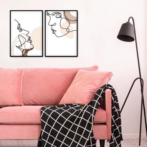 Dyptyk plakatowy z motywem pocałunku