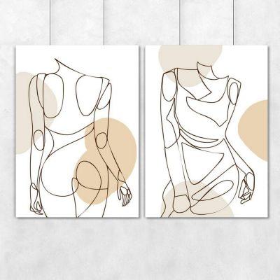 Dyptyk z kobietą w sukience