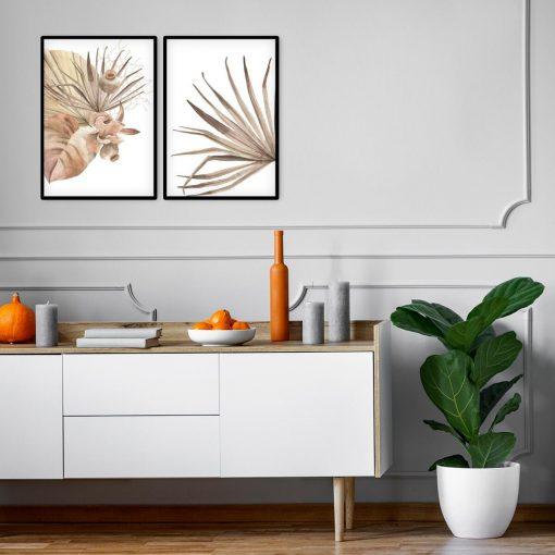 Komplet plakatów z roślinami tropikalnymi