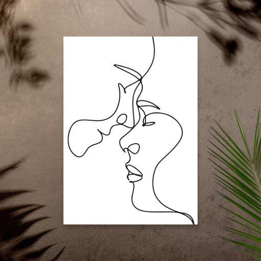 Minimalistyczny plakat z zakochanymi