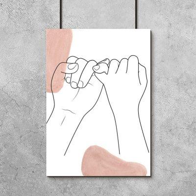 Plakat małe palce