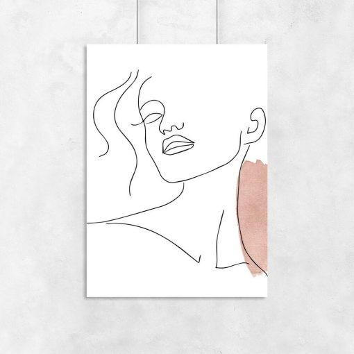 Plakat minimalistyczny one color