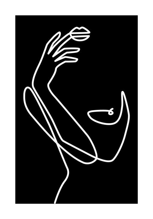 Plakat rysunek kobiety