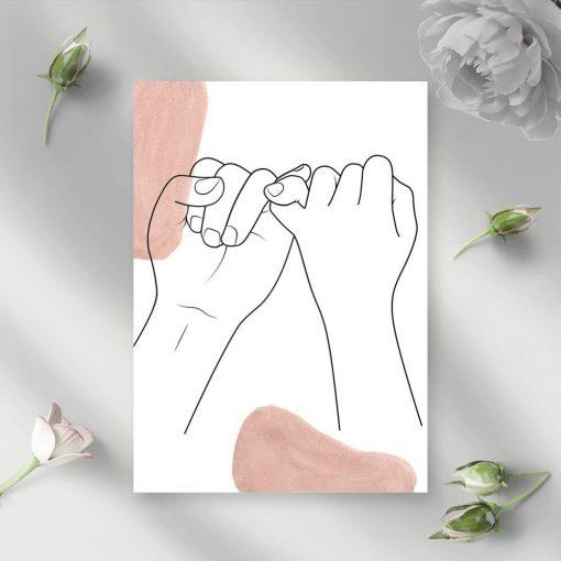 Plakat splecione palce