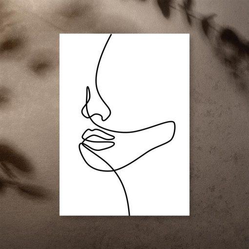 Plakat szkic twarzy