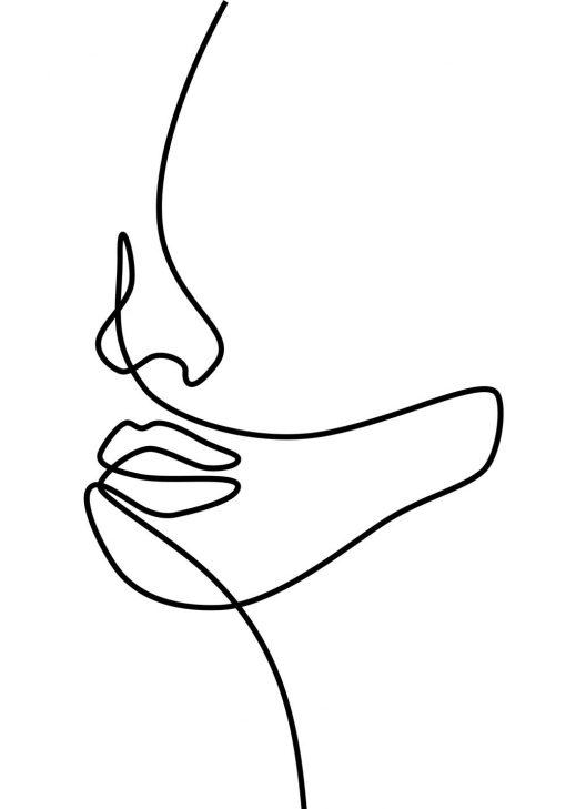 Plakat z kobiecym licem