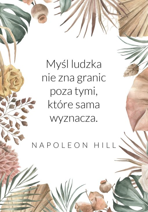 Plakat z maksymą Hilla