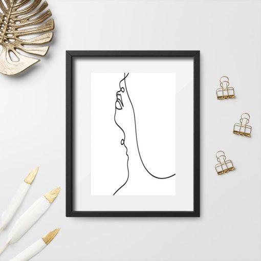 Plakat z napisem love w stylu minimalizmu