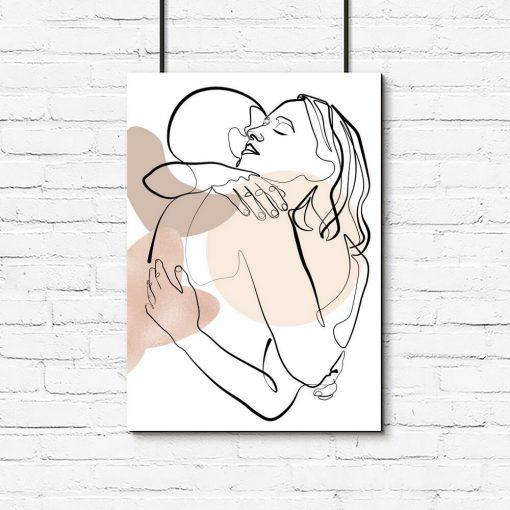 Plakat z parą zakochanych do oprawienia w ramę